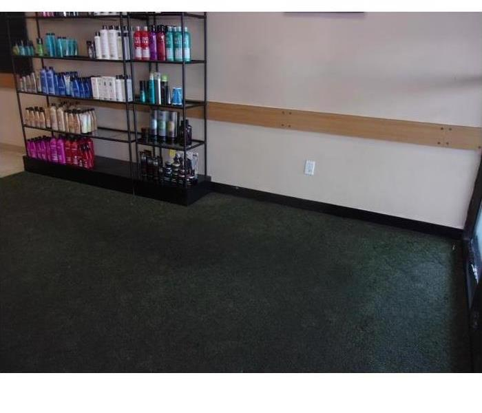 Frozen pipes lead to flooded salon... Before