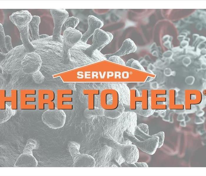 SERVPRO Logo with HERE TO HELP in orange